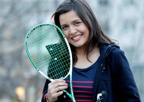 Xisela Aranda, jugadora de squash